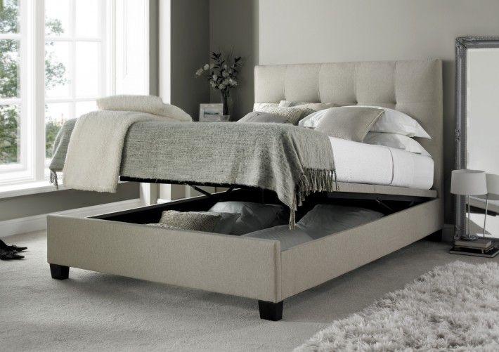 kaydian walkworth ottoman storage bed mink fabric ottoman beds rh pinterest com