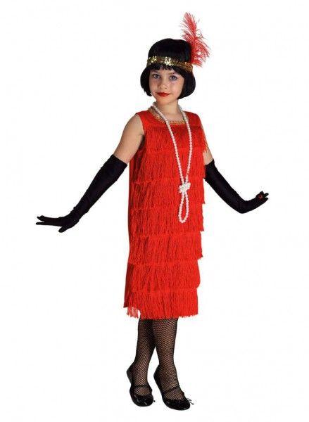 Mädchen Kostüm Charleston, Flapper Kleid Mädchen rot | Kinderkostüm ...