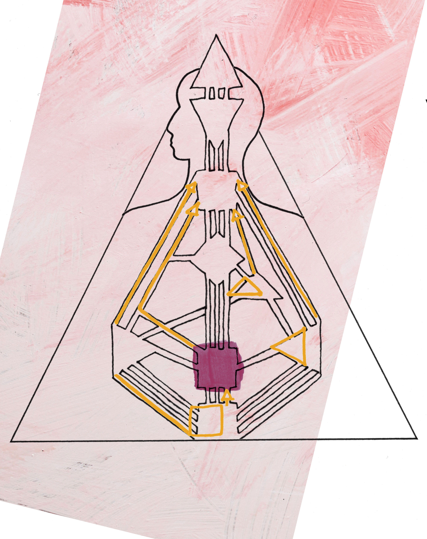 Human Design illustration for Manifesting Generator zine