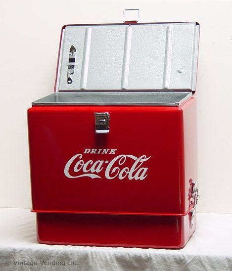 Vintage Coca Cola Picnic Cooler