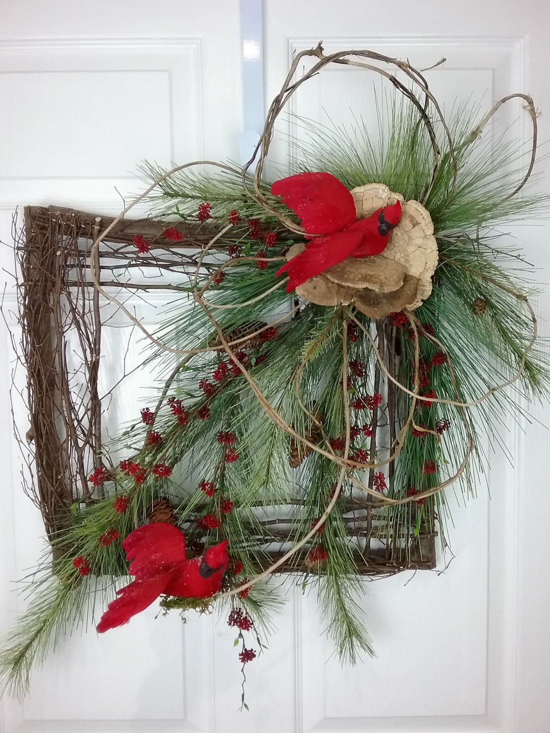Christmas Wreath Natural Wreath Square Wreath Christmas