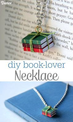 A tiny set of books makes the perfect pendant for book-lovers of all kinds! This book necklace DIY is simple to make with the help of Darice miniatures.