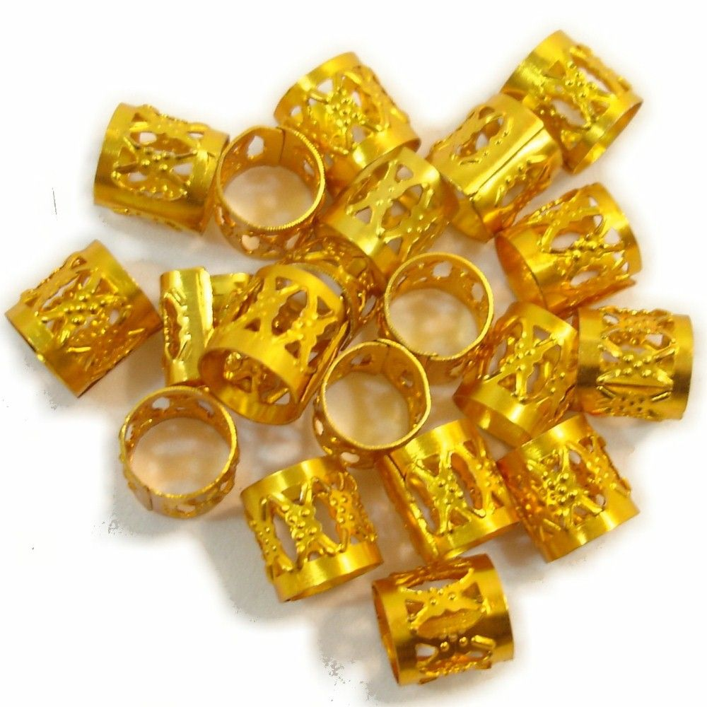 Dread Cuffs 20 Pieces Warm Gold At I Kick Shins