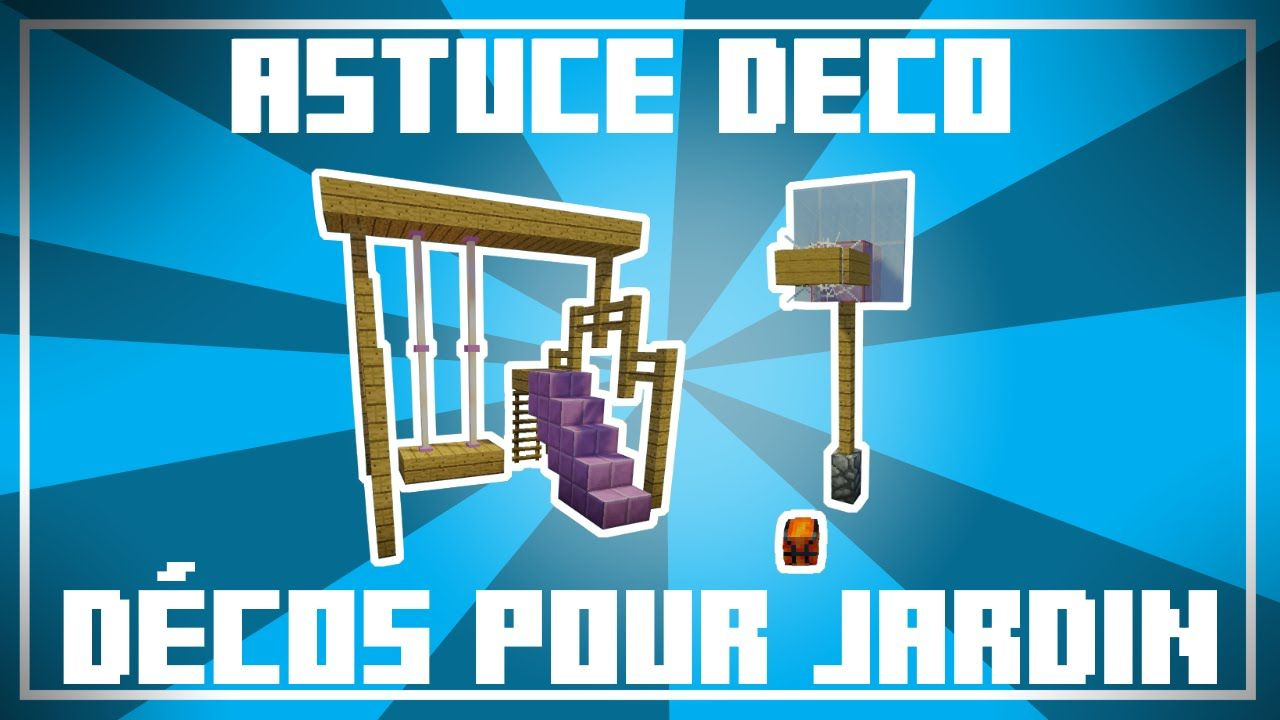 Bon Astuce Déco   9 Idées De DÉCO POUR JARDIN Dans Minecraft .