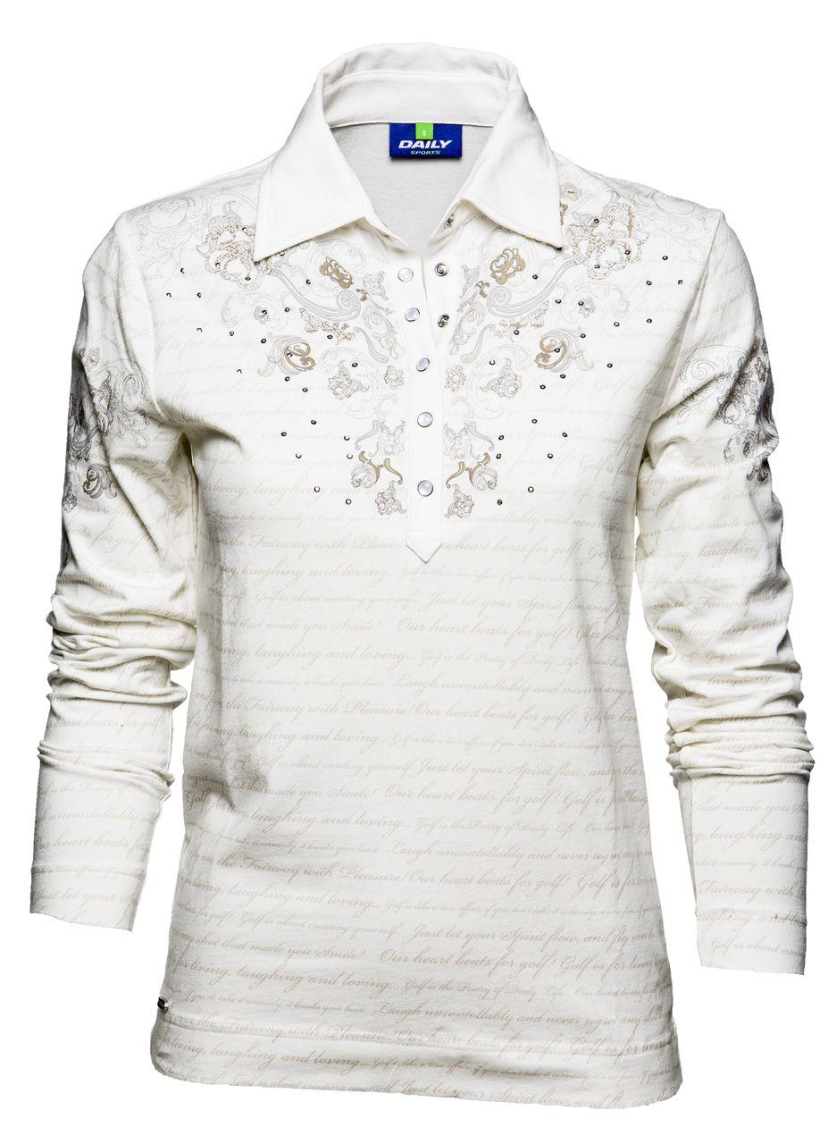 Katarina Polo Shirt this soft long sleeve polo is designed