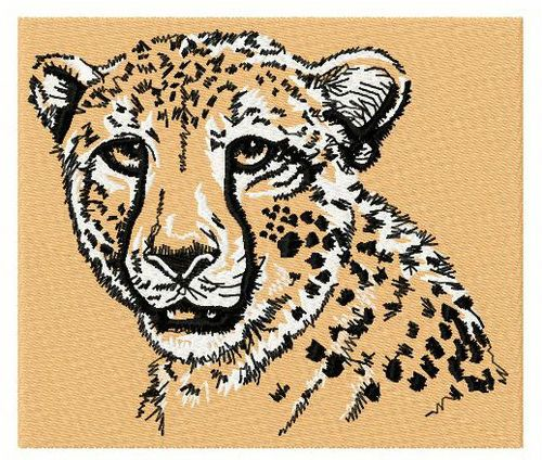 Cheetah 3 machine embroidery design. Machine embroidery design. www.embroideres.com