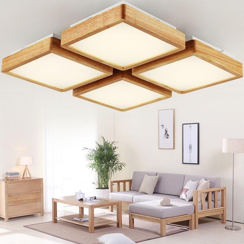 Vind meer Plafondverlichting informatie over Houten LED plafond ...