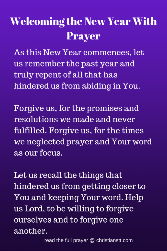 Prayer to Welcome the New Year 2019! | Our Prayer Board:pass it on ...
