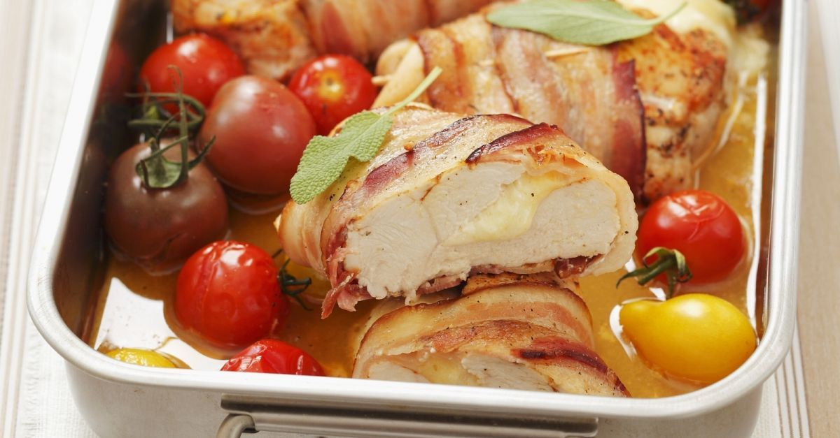 Photo of Bacon chicken filled with mozzarella and cherryto