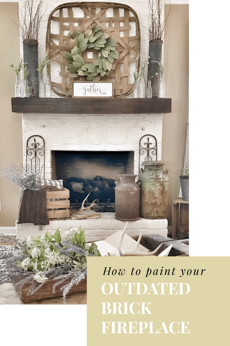 how to paint your outdated brick fireplace paint farmhouse rh pinterest com