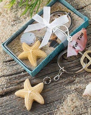 Keychain Favors with Starfish Charm image