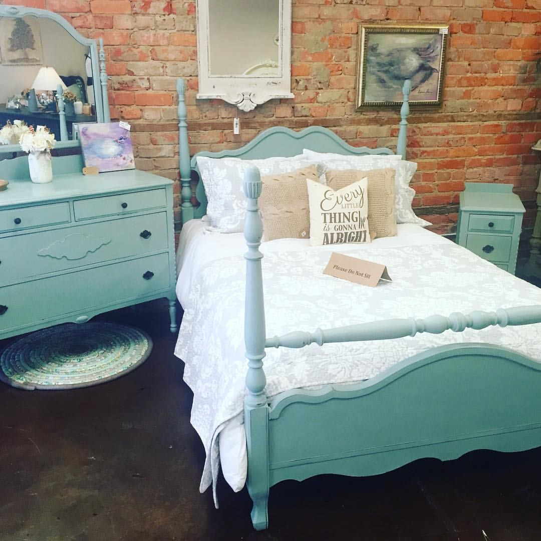 gorgeous bedroom set alert this stunning beauty was refinished with rh pinterest com