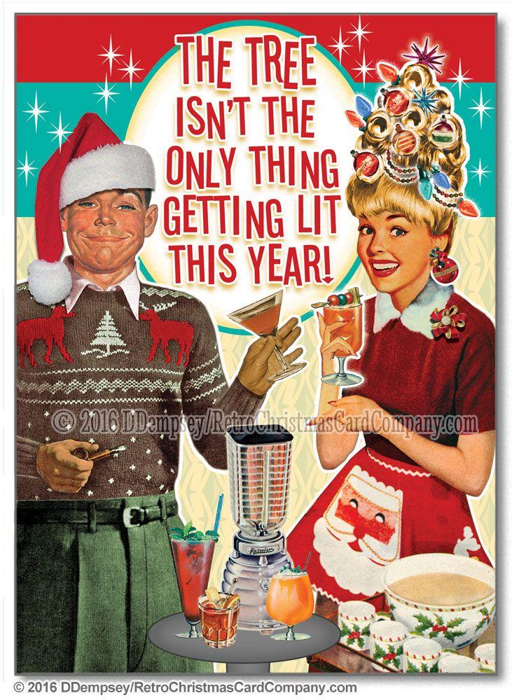 Tipsy Couple Christmas Cards - Retro Christmas Cards | 1960\'s ...