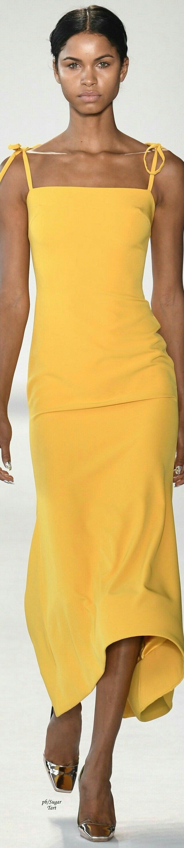 Yellow Fashion Colorful Queen Dress Fantasy Siriano Elegant