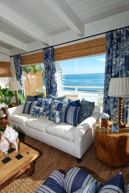 20 blue and white family living rooms home decorating beach rh pinterest com