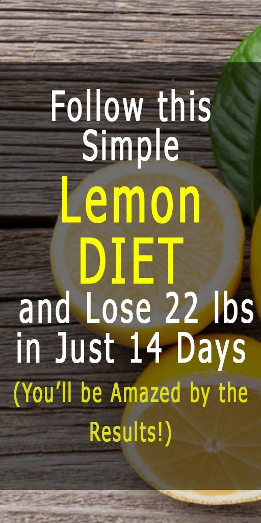 Simple Lemon DIET and Lose 22 lbs in Just 14 Days (You'll be Amazed by the Results!)  Weight Loss Plan is part of Lemon diet - We can easily say that lemons are one of the healthiest fruits on the planet  Agree  Share you thoughts in the comment section  Lemons are loaded with healthy nutrients and can provide many health benefits  You can use the amazing lemon for many different things, but did you know that you can also use it [   ]
