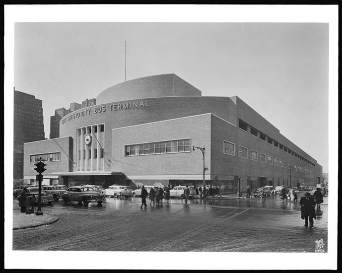 port authority bus terminal on 42nd street and 8th avenue 1951 rh pinterest ca