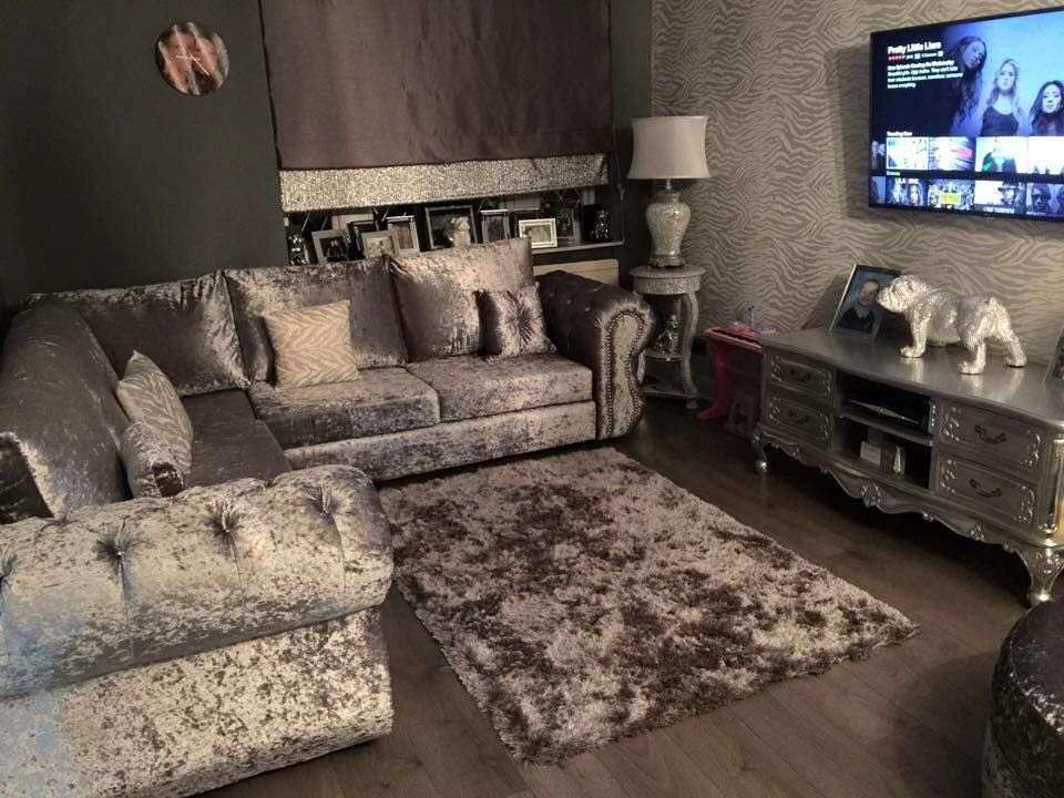 14 Crushed Velvet Living Room Ideas Crushed Velvet Living Room Velvet Living Room Crushed Velvet Sofa