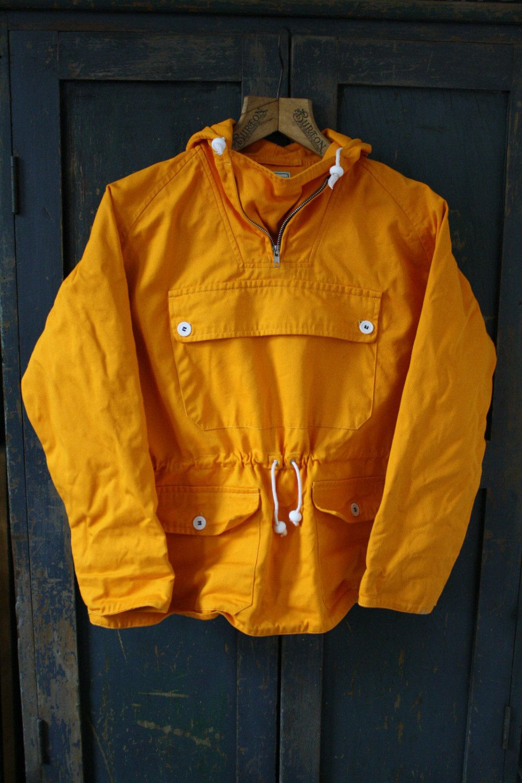 0e31d200cd8 1950 s 1960 s style S Raglan Merrow Telemark pullover Smock Parka Anorak  Survival Burnt Yellow Orange Mountaineering Woolrich Real Mccoy WW2