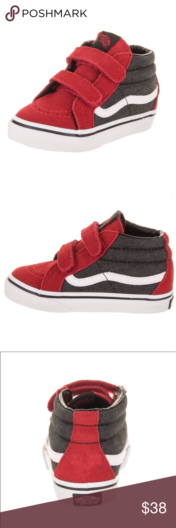 d58def957be NEW Kids Vans Sk8 Hi Reissue Velcro Shoes Brand new!! Kids size 11.