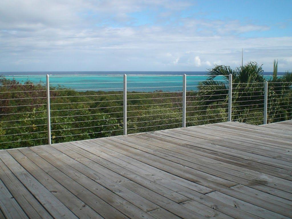 custom cable railings stair railings deck railing. Black Bedroom Furniture Sets. Home Design Ideas