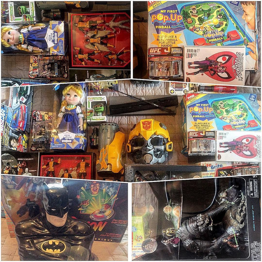 On instagram by antiquealchemy #nes #microhobbit (o) http://ift.tt/1ZsC6cf the year with some decent finds.  #toys #vintage #transformers #bumblebee #batman #cookiejar #starwars #blackseries #jabbasrancorpit #xmenlegends #xmen #pinball #tyco #amazingspiderman #ufc  #doubledribble #sonic #sega #nascar #tmnt #apriloneil #doubledragin #antiquealchemy