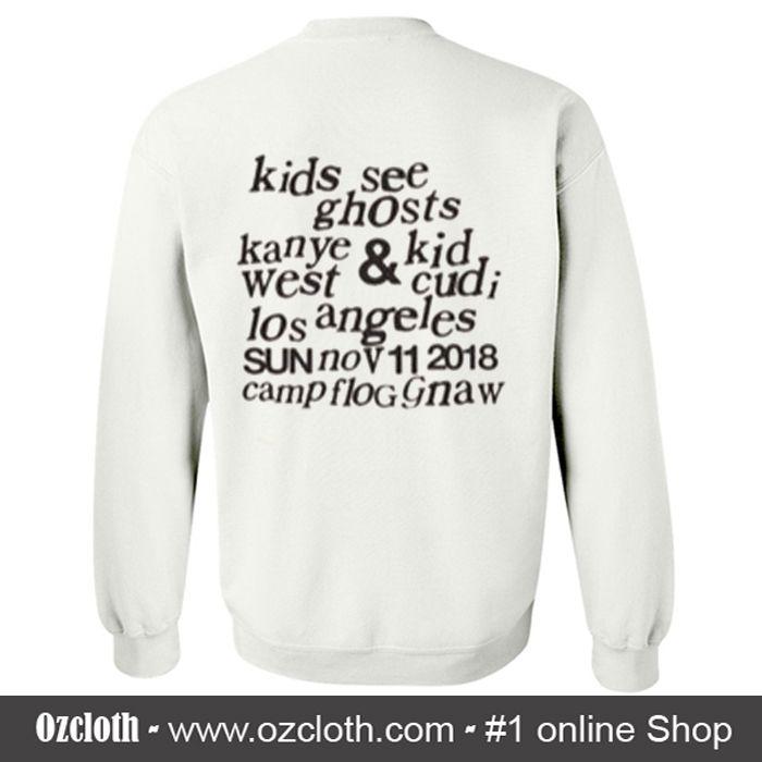 Kids See Ghosts Other Sweatshirt Back Sweatshirt Pinterest