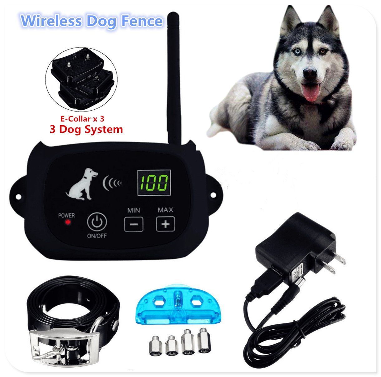 Jjjstore Wireless Dog Fence Electric Pet Containment System