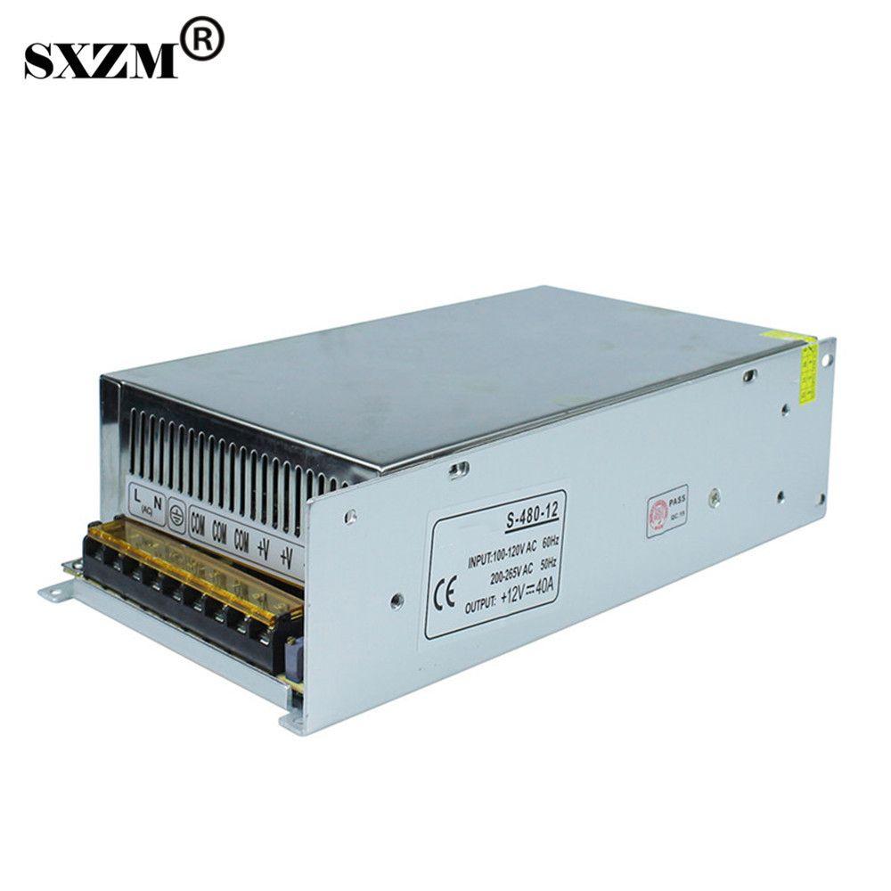 Sxzm 12v40a Switch Led Transformer Aluminum Power Supply Ac110v Or Ac220v For 3528 5050 5730 Led Strip Light Le Led Strip Lighting Dimmable Led Strip Lighting
