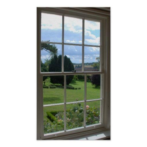 fake window 3 poster   Zazzle.com in 2020   Fake window ...