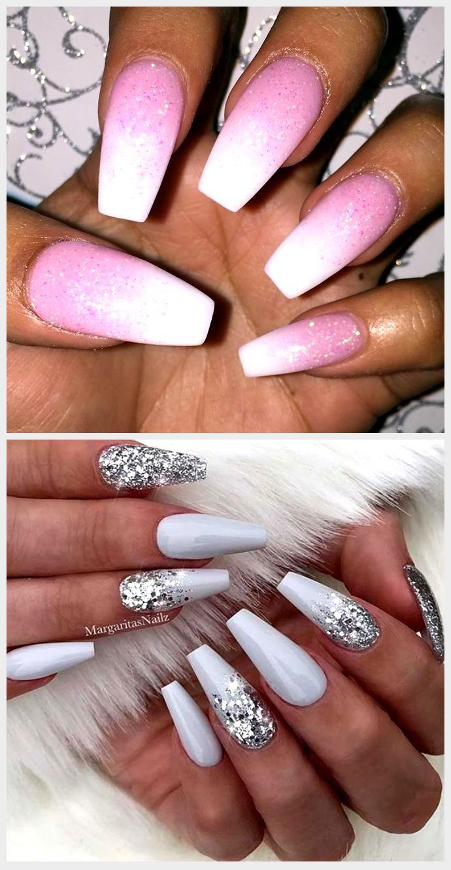 Nägel Weiß Rosa