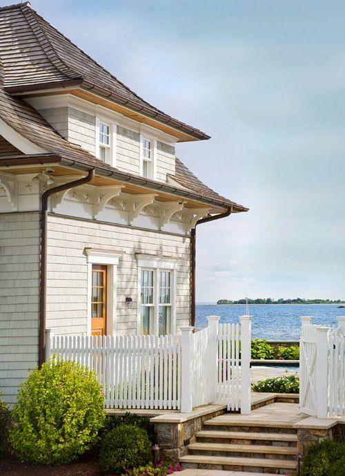 beautiful white house by the sea perfect little shingle beach house rh pinterest com