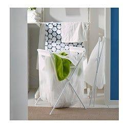 Ikea Jall White Laundry Bag With Stand Ikea Ikea Laundry Ikea