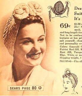 result hair scarf 1940s