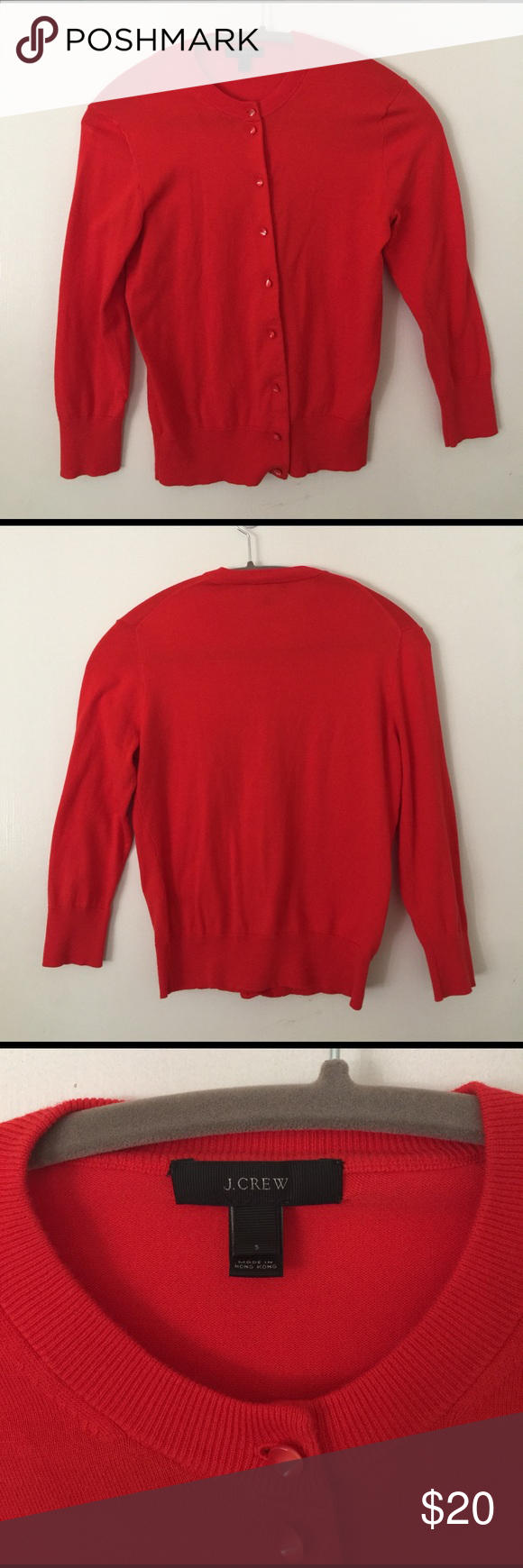 J.Crew Red Cardigan J.Crew red cardigan, soft, excellent condition, size S. J. Crew Tops