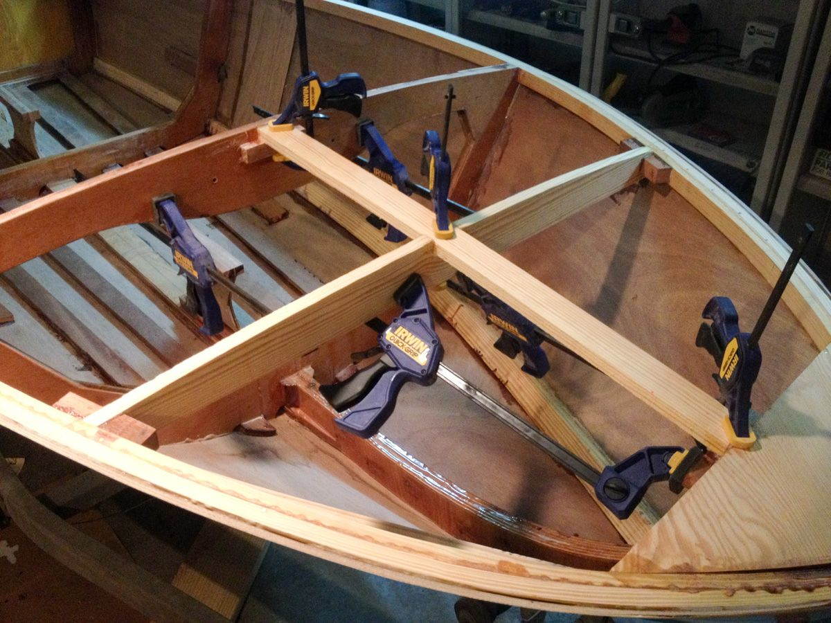 Michael\'s Boatbuilding Blog: Deck framing completed | Building my ...