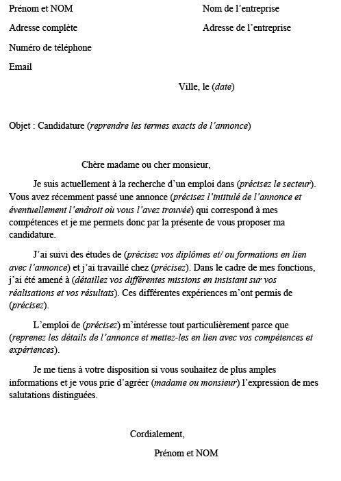Modele De Cv Pour Gardien D Immeuble Comment Ecrire Une Lettre Lettre De Motivation Lettre De Motivation Francais