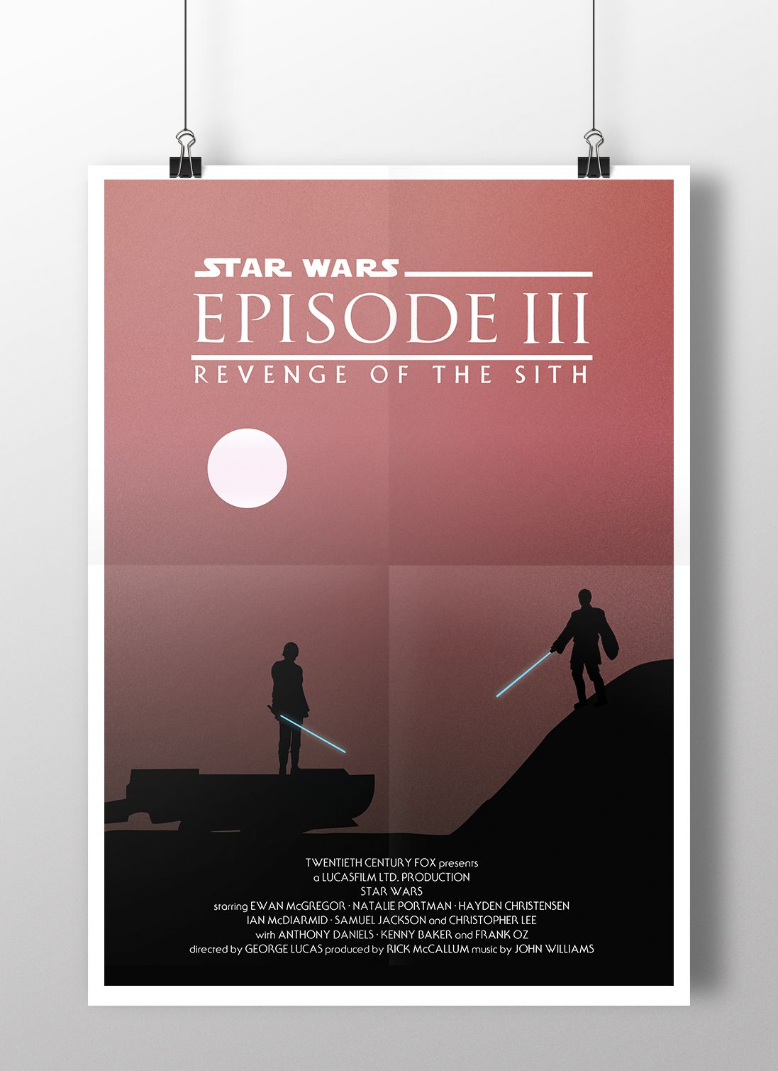 Episode Iii Revenge Of The Sith Minimalist Poster By Joe Elam Starwars Illustration Mustafar Episod Minimalist Poster Freelance Graphic Design Fan Poster