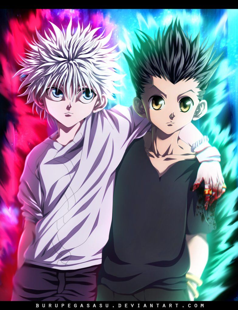 Hunter X Hunter Killua Gon Hunter anime, Hunter x