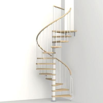 Arke Phoenix 47 In White Spiral Staircase Kit K07094 Spiral Staircase Kits Stair Kits Staircase Kits