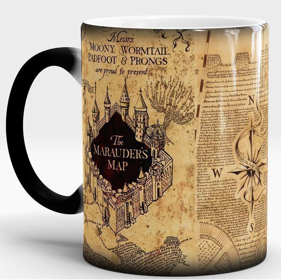 Harry Potter Mug Marauders Map Harry Potter Map Magic Mug Mischief Managed Mug The Marauders Mugs
