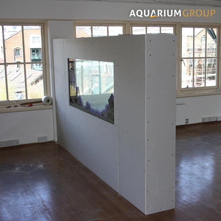 office space room divider fish tank in construction side view | For ...