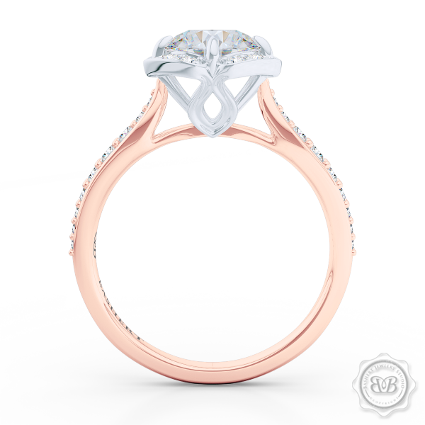 Create Your Own Engagement Ring line Custom Round Diamond Halo Engagement