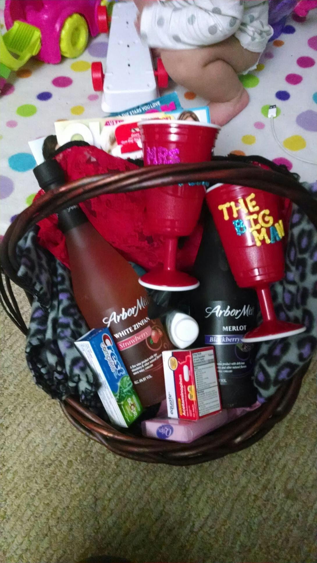 Honeymoon basket all the little things the bride and
