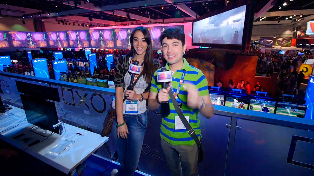 Bruno y Chiara en el streaming del E3 2014.
