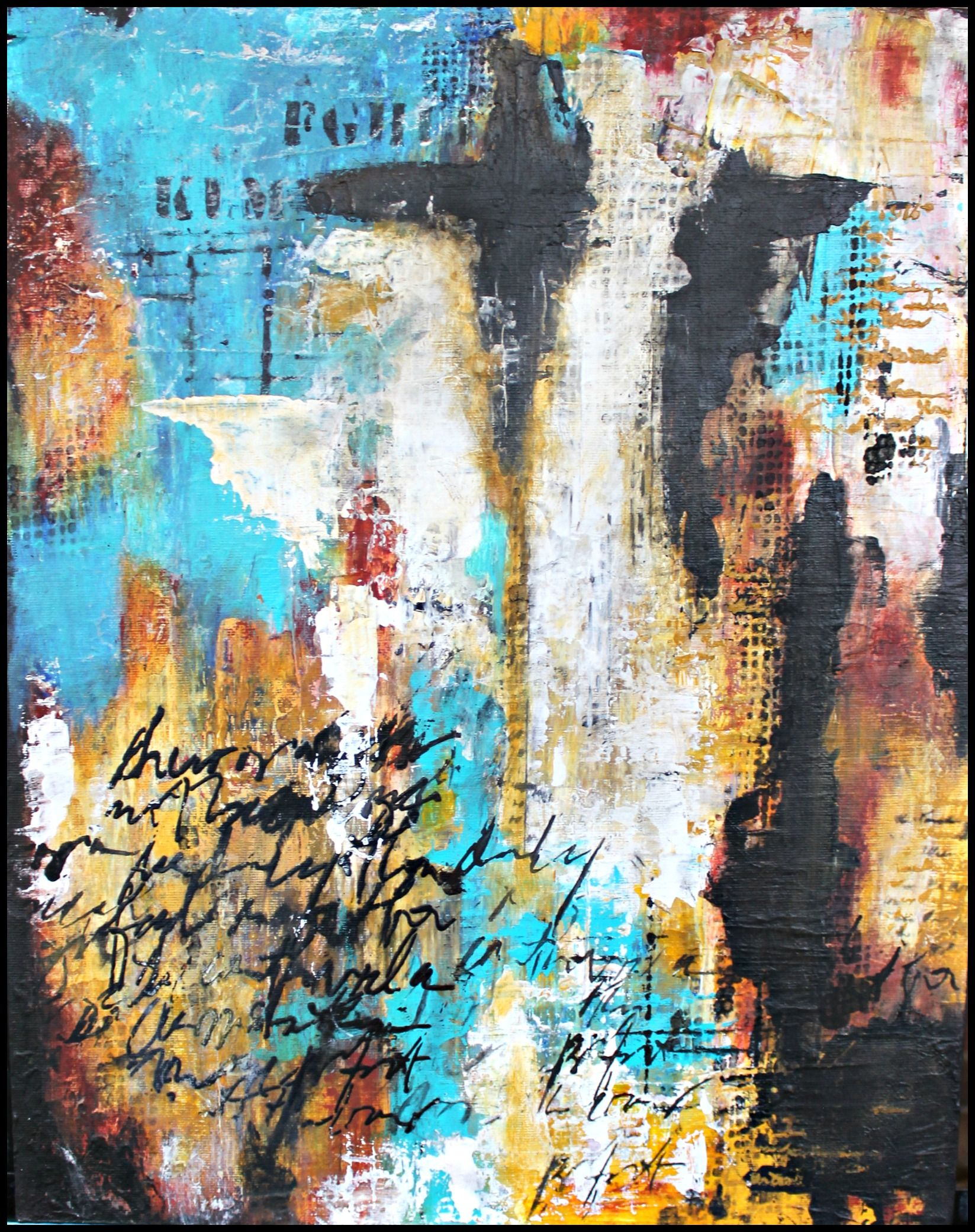 Writings on the wall mixed media abstract painting by crystal renee fine art also rh in pinterest