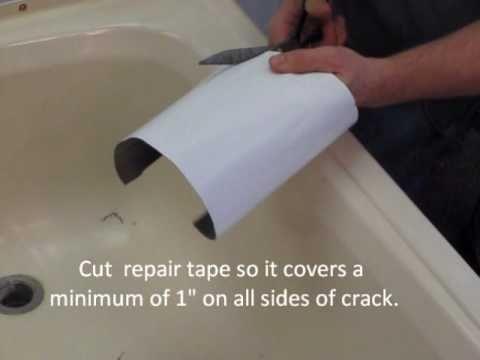Repairing A Cracked Bathtub Or Shower Youtube Bathtub Repair Bathtub Repair Kit Mobile Home Repair