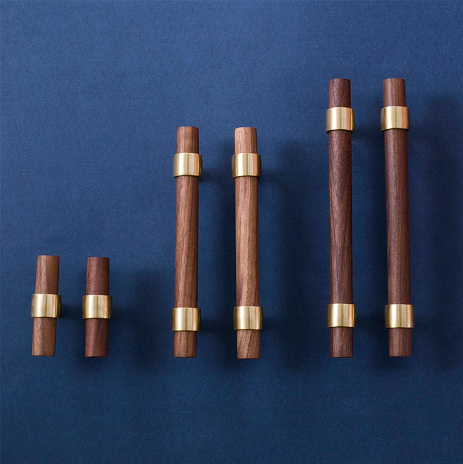 """Photo of 3 """"3.75 & # 39; & # 39; 5 & # 39; & # 39; 6.3"""" 7.56 """"8.8"""" Maniglioni in legno in ottone Maniglie per armadi Maniglia per ante in faggio noce Maniglie per cassetti Maniglie per cassetti Manopole regolabili"""