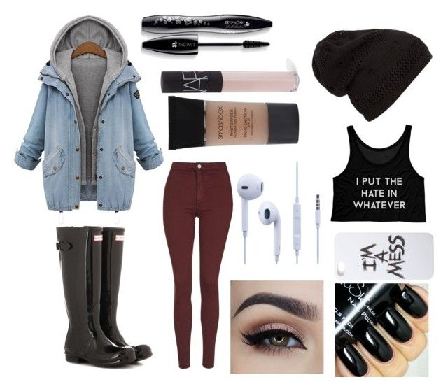 """""""Untitled #14"""" by maddie4h on Polyvore featuring beauty, Hunter, Topshop, Smashbox, NARS Cosmetics, LAUREN MOSHI and Lancôme"""