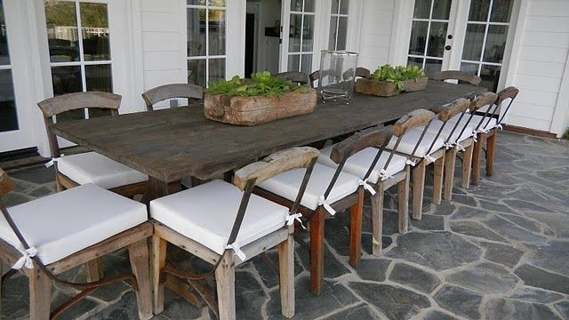 Best Rustic Outdoor Table And Chairs Homedepotpw Intended For Outdoor  Rustic Dining Table Remodel